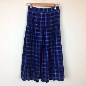 Vintage Chaus Maxi Skirt Womens XS Petite Plaid